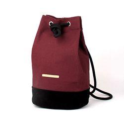 Suede Leather Bucket Bag - Burgundy(스웨이드백)