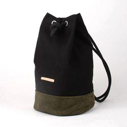 Suede Leather Bucket Bag - Black(스웨이드백)