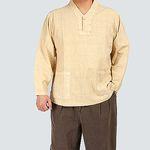 [멋찐남자] 원버튼 v넥 티셔츠-순면 20수-2color