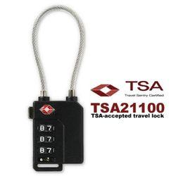 3중번호잠금 와이어자물쇠 TSA21100