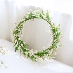 내추럴 와일드 들꽃화관 [2color]