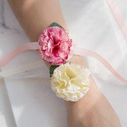 엔젤 브라이덜샤워 꽃팔찌 [2color]