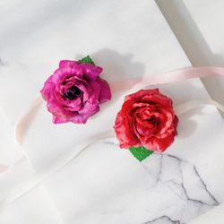 들장미 브라이덜샤워 꽃팔찌 [2color]