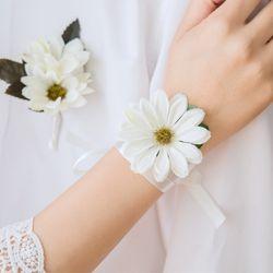 순수한 데이지 꽃팔찌 두개세트 [4color]