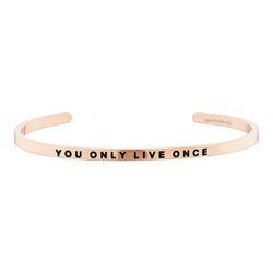 [만트라뱅글] You Only Live Once - 로즈골드