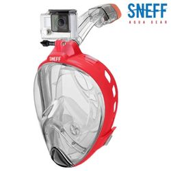 스네프 스마트스노클링마스크 액션캠용 SMC-3002 레드