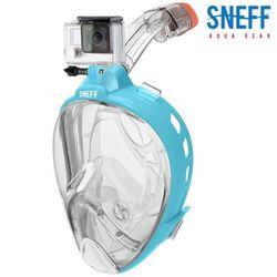 스네프 스마트스노클링마스크 액션캠용 SMC-3002 블루
