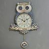 저소음 재물부엉이 추 시계 실버(kjco011)