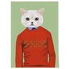 패브릭 포스터 F073 고양이 드레스 업 no.1 [중형]