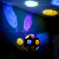LED 휴대용 칼라미러볼 (건전지형)