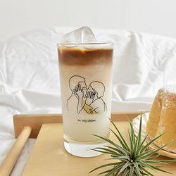 kiss glass 키스드로잉 유리컵