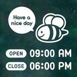 오픈클로즈 영업시간 스티커 LMST-012 꿀벌