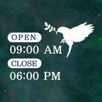 오픈클로즈 영업시간 스티커 LMST-036 플라잉 버드