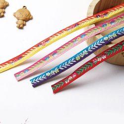 자수리본-투톤잎사귀리본공예