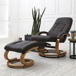 샤르망 회전 안락 의자 암체어(Dark Brown)