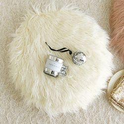 러블리 램 fur 원형방석-아이보리(커버만)