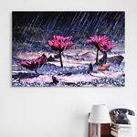 iv084-비오는날연꽃중형노프레임