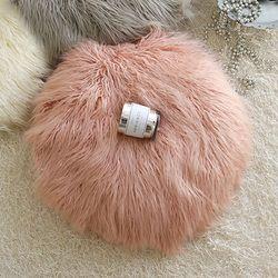러블리 램 fur 원형방석-핑크(커버만)