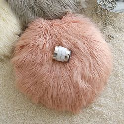 러블리 램 fur 원형방석-핑크(솜포함)