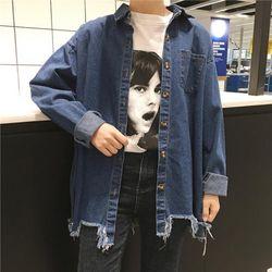 [76982]카우보이 데님 셔츠