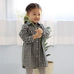 어텀 깅엄체크 유아 남방 T156