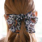 들꽃 리본 머리끈