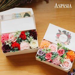 [무료배송] 향기듬뿍 플라워 용돈박스-용돈봉투포함비누꽃