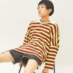 stripe open pique shirts (2 color) - UNISEX