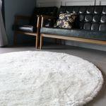 스노우펄 라운드 샤기 러그 (지름 100cm)