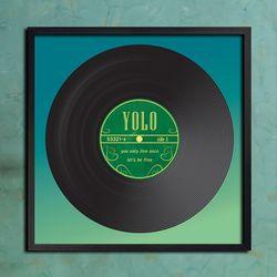 LP 메탈 액자 - YOLO