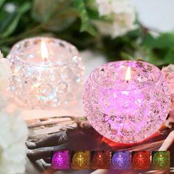 LED 젤리 캔들  6가지 색 조명 라벤다 프리지아 향