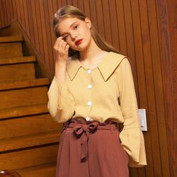MIDDY FRILL BLOUSE (BEIGE)