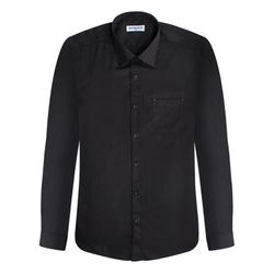 레귤러블랙 포인트 패턴 긴팔셔츠
