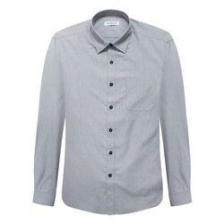 레귤러그레이 스트라이프 깅엄 패턴 긴팔셔츠