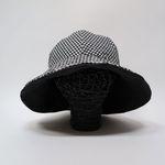 린넨모자 [체크] 양면 버킷햇 벙거지 핸드메이드