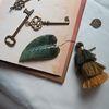 나뭇잎 누름돌 (책갈피 북마크)