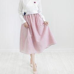 시크릿 허리치마(핑크)