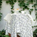 플라워 린넨 테이블보 : Flower linen tablecloth