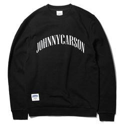 자니카슨 아크 로고 기모맨투맨 - BLACK