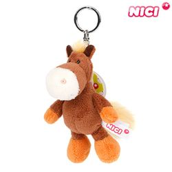 [NICI]니키 브라운 말 키체인 10cm-28073