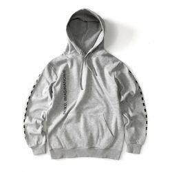 [레이쿠] dotted line hoodie-k-k gray 기모 후드티