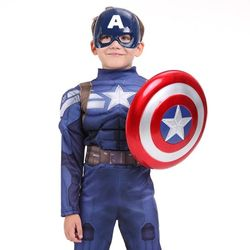 캡틴아메리카 디럭스 코스튬(15)(가면+방패)