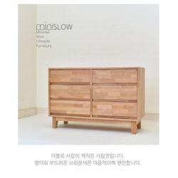 원목 엘더 와이드 3단 서랍장