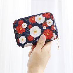 [스트랩 증정] 마리몬드x디랩 Card Wallet - 동백(네이비)
