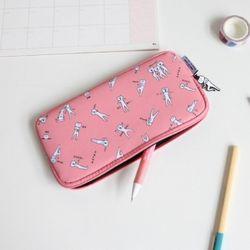 [1만↑사은품증정] 적극적인 곰 앤슬림파우치 Baby pink