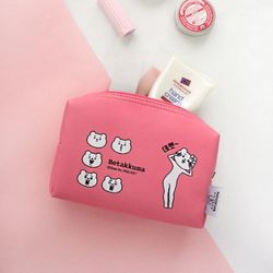 적극적인 곰 사각파우치 Pink