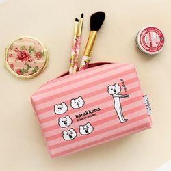 [1만↑사은품증정] 적극적인 곰 사각파우치 Baby pink