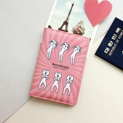 [1만↑사은품증정] 적극적인곰 여권케이스 Baby pink