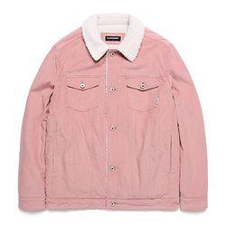 밴웍스 코듀로이 트러커 양털자켓 핑크(VNAGJK302)