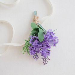 라일락 라벤더 꽃팔찌